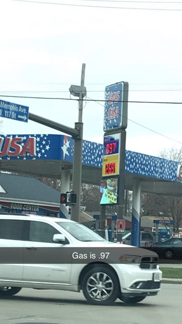 Gas Prices in Ohio Under 1 dollar